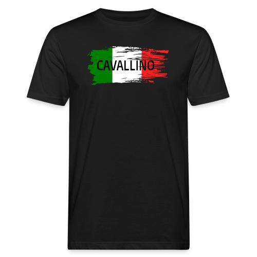 Cavallino auf Flagge - Männer Bio-T-Shirt
