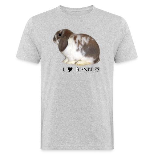 I Love Bunnies Luppis - Miesten luonnonmukainen t-paita