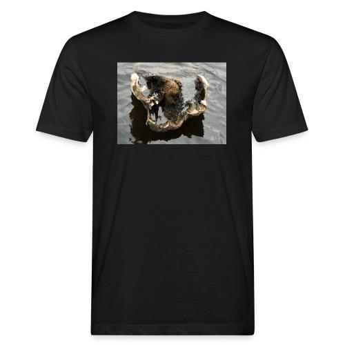 Tässä makaan ja muuta en voi - Miesten luonnonmukainen t-paita
