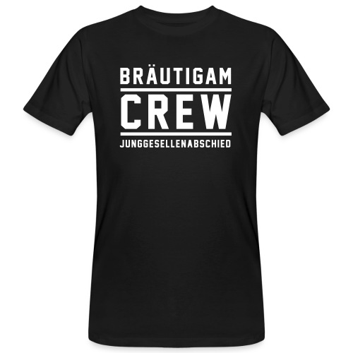Bräutigam Crew Junggesellenabschied - Männer Bio-T-Shirt