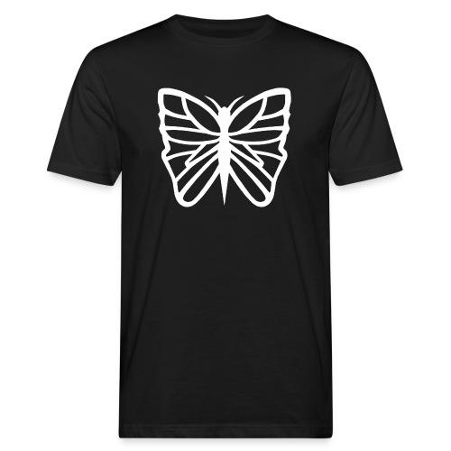 Avancerat fjärils motiv. - Ekologisk T-shirt herr