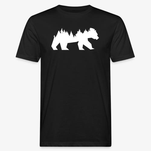 Bear Wald - Männer Bio-T-Shirt