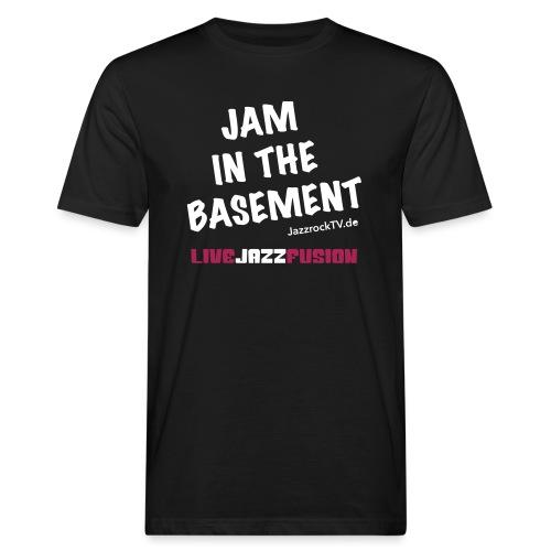 JazzrockTV - Jam In The Basement - Männer Bio-T-Shirt
