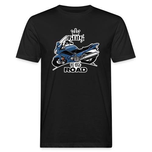 0885 FJR KING of the ROAD (blauw) - Mannen Bio-T-shirt