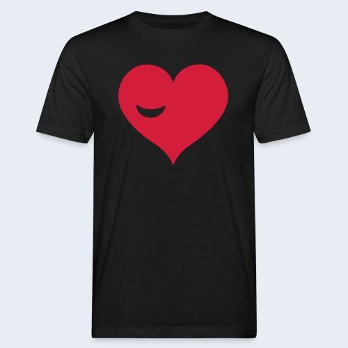 Winky Heart - Mannen Bio-T-shirt