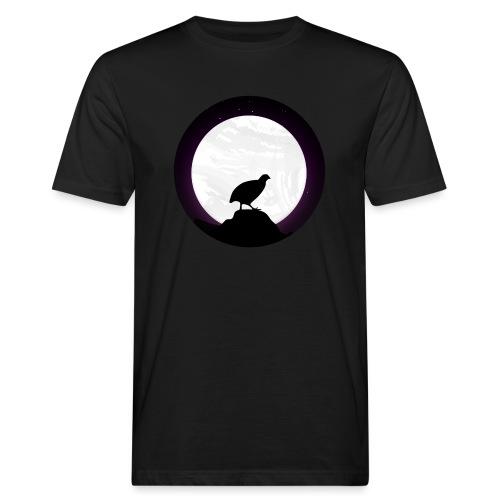Wachtel im Mondschein - Design Geschenkidee! - Männer Bio-T-Shirt