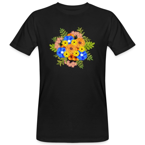 Blue Flower Arragement - Men's Organic T-Shirt