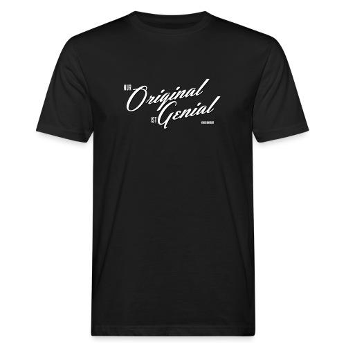Genial weiss - Männer Bio-T-Shirt
