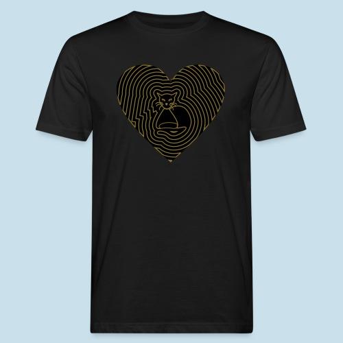 Katzenliebe - Männer Bio-T-Shirt