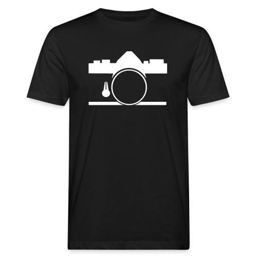 Vintage camera OM film slr - T-shirt ecologica da uomo