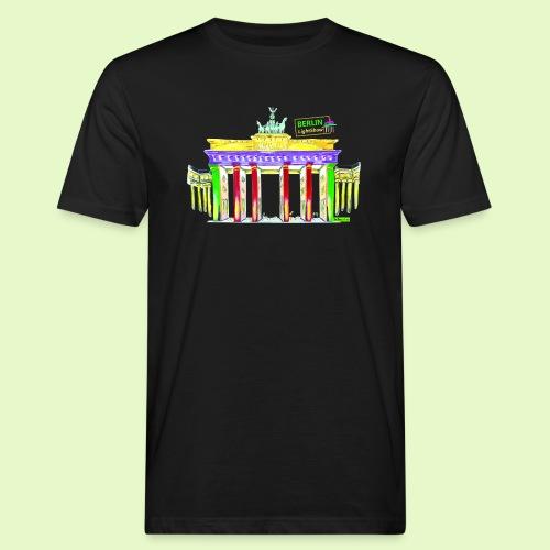 Berlin/Brandenburger Tor/PopArt/BerlinLightShow - Männer Bio-T-Shirt