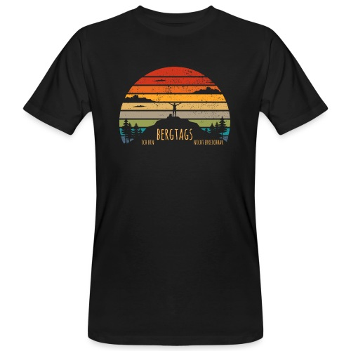 lustige Wanderer Sprüche Shirt Geschenk Retro - Männer Bio-T-Shirt