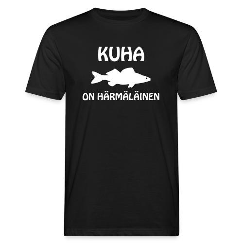 KUHA ON HÄRMÄLÄINEN - Miesten luonnonmukainen t-paita