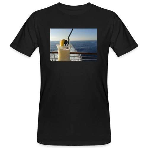 Cocktail Kreuzfahrt Meer Foto Schiff Ananas - Männer Bio-T-Shirt