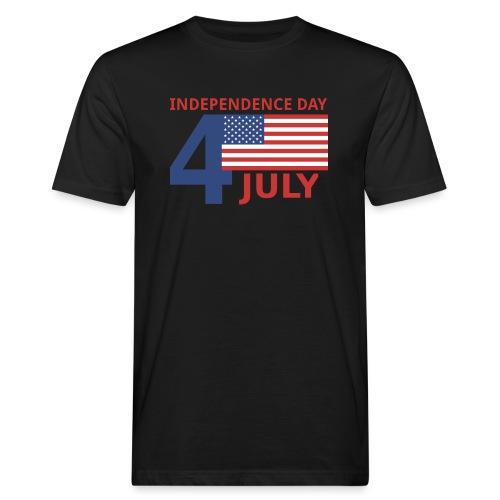 4 luglio giorno della indipendenza - T-shirt ecologica da uomo