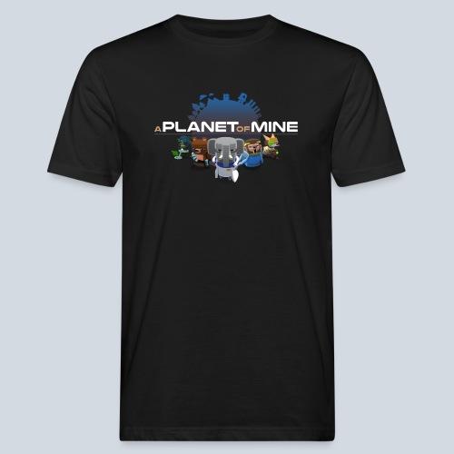 logo planetofmine dark HD - T-shirt bio Homme