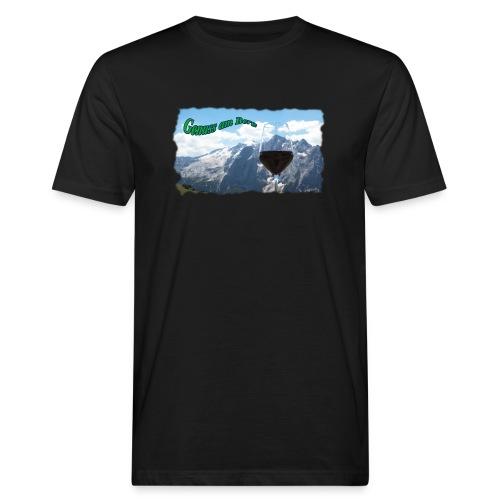 Genuss am Berg - Männer Bio-T-Shirt