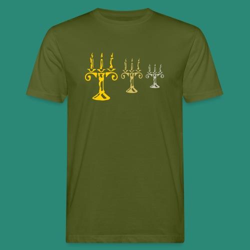 edles Kerzenlicht - Männer Bio-T-Shirt