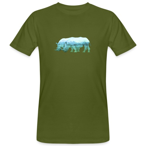 RHINOS, DIE NASHÖRNER IN DEN ALPEN - Männer Bio-T-Shirt