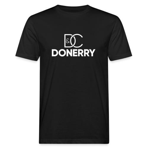 DONERRY New White Logo on Dark - Men's Organic T-Shirt