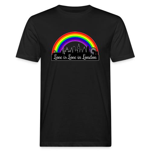 Love is Love in London - Miesten luonnonmukainen t-paita