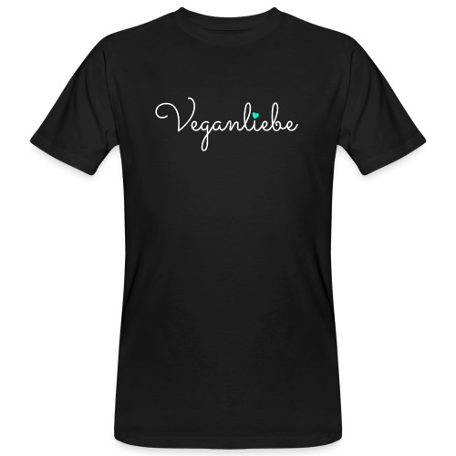 Veganliebe Logo Schriftzug für Veganer - Männer Bio-T-Shirt