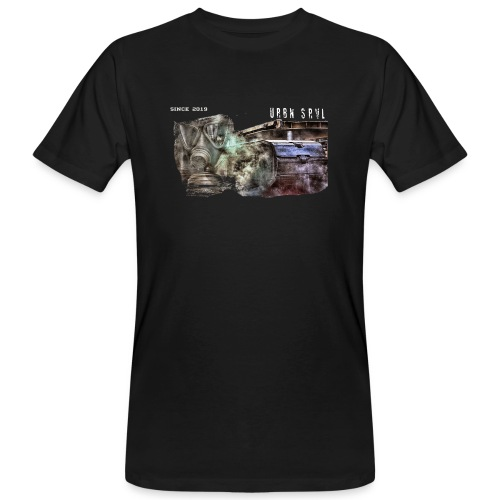 gas mask 2 white - Männer Bio-T-Shirt