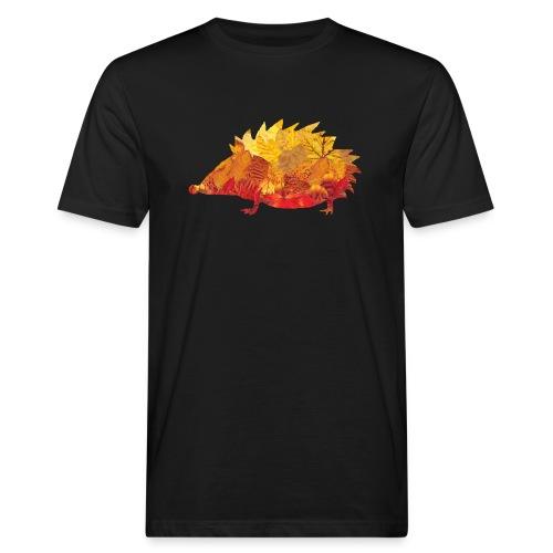 Igel aus Blätter - Männer Bio-T-Shirt