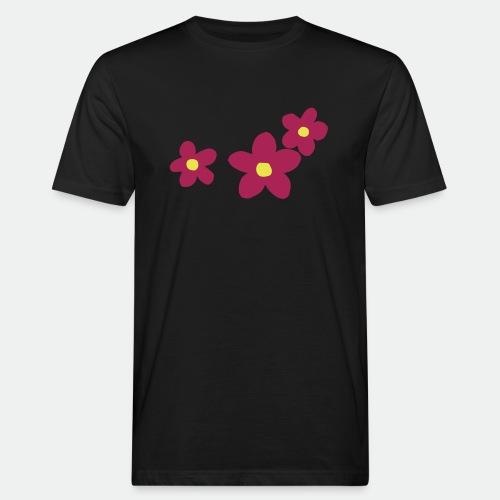 Three Flowers - Men's Organic T-Shirt