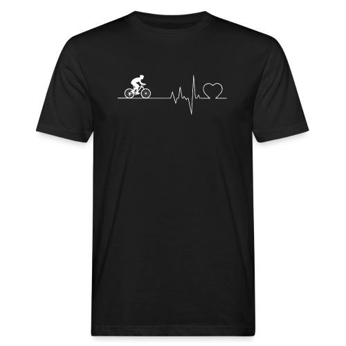 Herzschlag Heartbeat Fahrrad Rennrad Geschenk - Männer Bio-T-Shirt