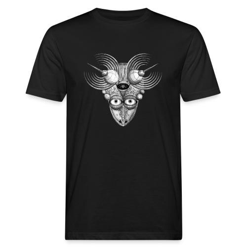 Androidenmaske 'Telepath' - Männer Bio-T-Shirt