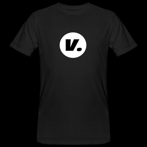 Ventura Black V Logo - Mannen Bio-T-shirt