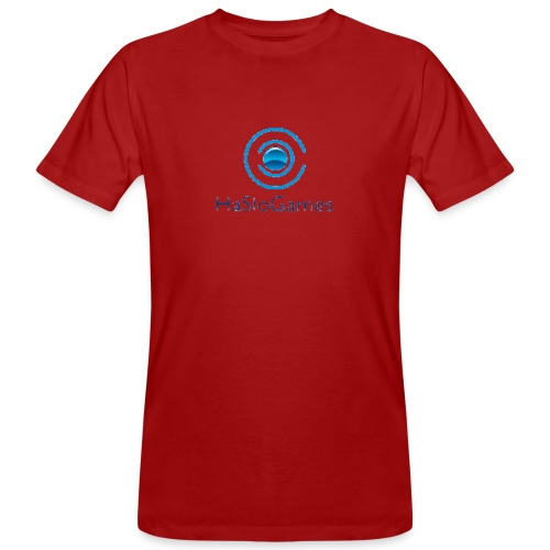 HasloGames Producten officieel logo - Mannen Bio-T-shirt