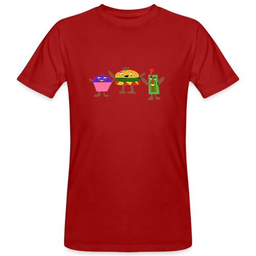 Fast food figures - Men's Organic T-Shirt