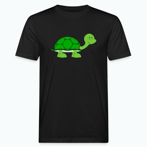 Totte Turtle - Appelsin - Ekologisk T-shirt herr