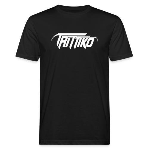 Trittiko Logo Weiss - Männer Bio-T-Shirt