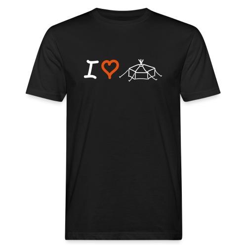 I love Jurte - Männer Bio-T-Shirt