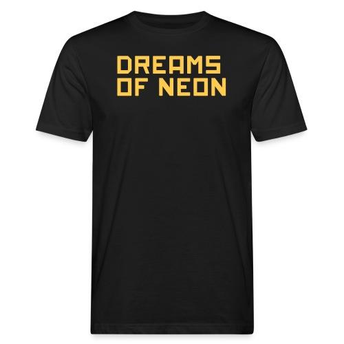 neon logo - Men's Organic T-Shirt