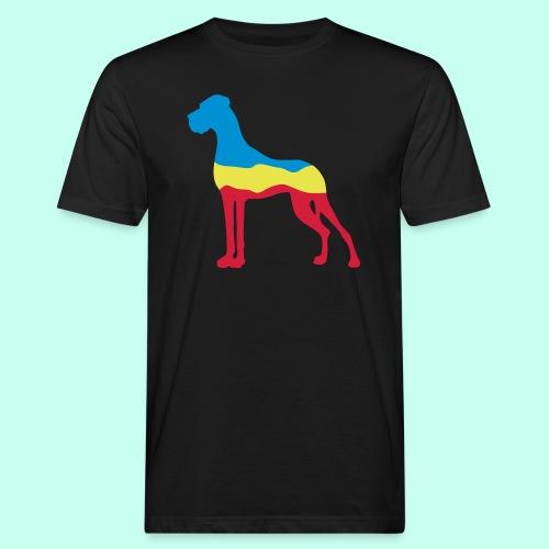 Flaggen Dogge - Männer Bio-T-Shirt