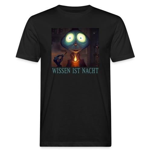 Wissen ist Nacht - Männer Bio-T-Shirt