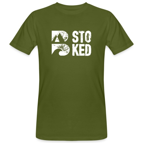 bstoked logo white - Men's Organic T-Shirt