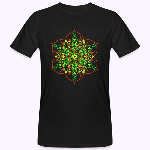 Fire Lotus Flower - Mannen Bio-T-shirt