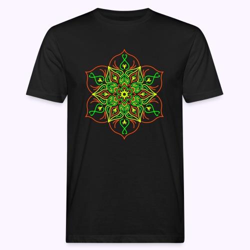 Flor de loto de fuego - Camiseta ecológica hombre