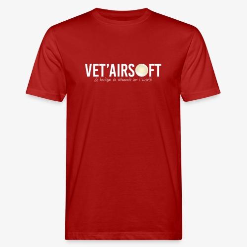 Logo Vet'Airsoft (blanc) - T-shirt bio Homme