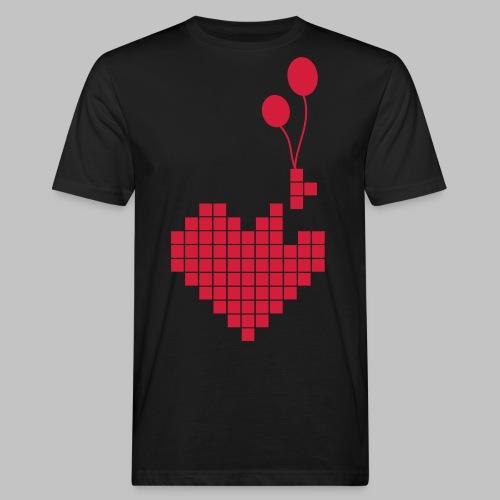 heart and balloons - Men's Organic T-Shirt
