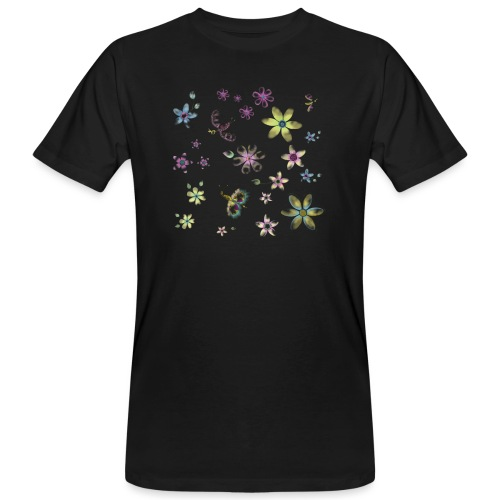 flowers and butterflies - T-shirt ecologica da uomo