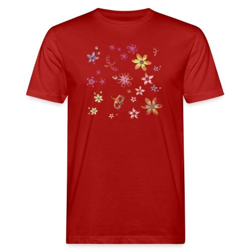 flowers and butterflies - T-shirt ecologica da uomo