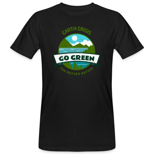 Earth Crisis Go Green For Mother Nature - Mannen Bio-T-shirt