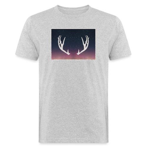 Poronsarvet taustalla - Miesten luonnonmukainen t-paita