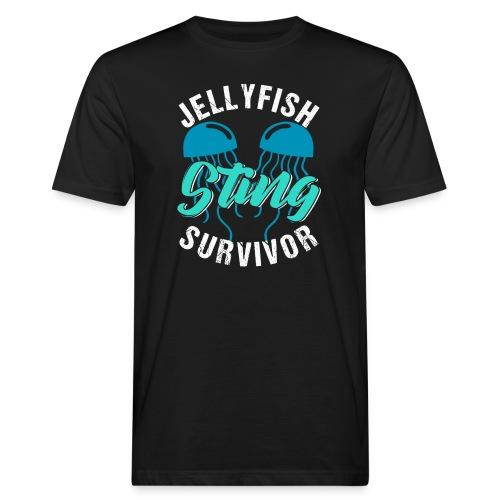 Jellyfish Sting Survivor - Männer Bio-T-Shirt